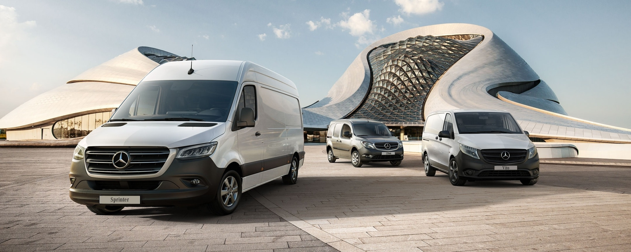 Mercedes-Benz range with the new Sprinter, Citan and Vito.